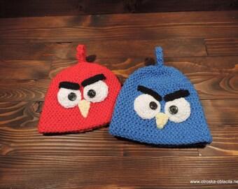 Crochet hat, Angry birds,