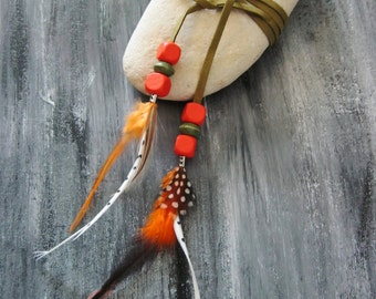 CUFF feathers... Nomadic inspiration
