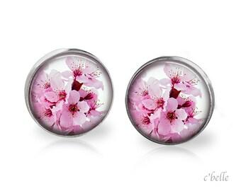 Earrings flowers - cherry blossom 17