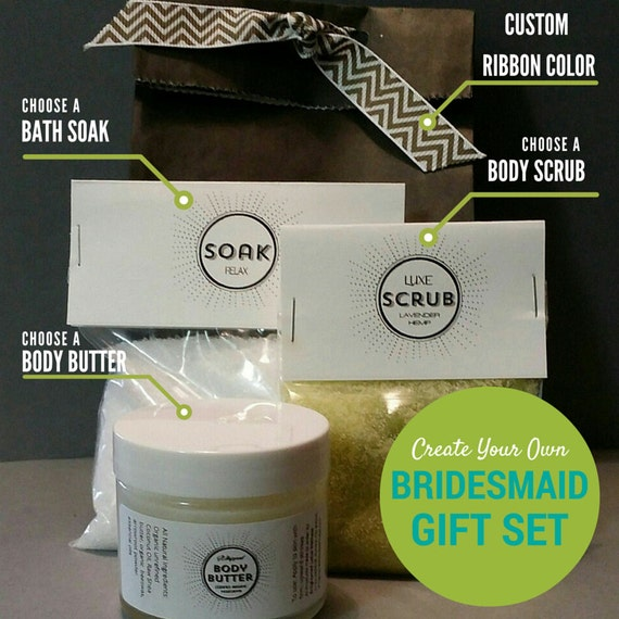 Create-Your-Own Bridesmaid Gift Set, Custom Bridesmaid Spa Set