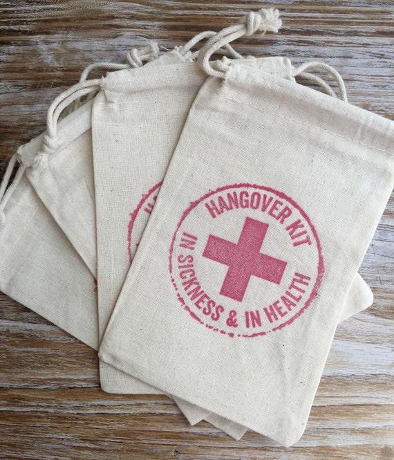 1 Single Hangover Kit Hangover Bags Wedding Welcome Bag