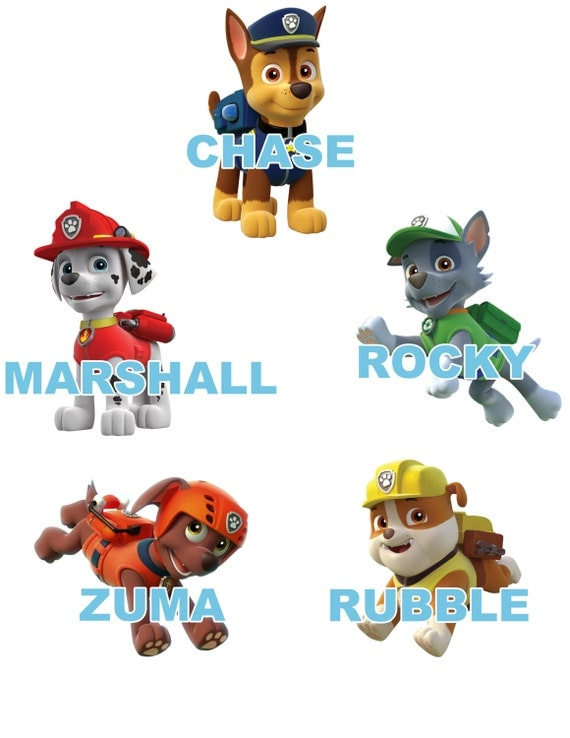 paw patrol large pups wall decals. Black Bedroom Furniture Sets. Home Design Ideas