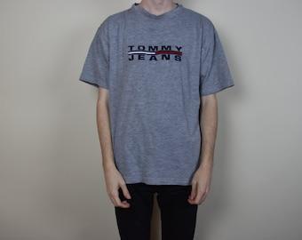Vintage Grey Tommy Hilfiger Jeans T-Shirt