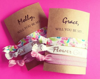 Will you be my flower girl/wedding favors/flower girl gift customizable