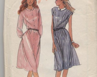 Misses  Loose Fitting Dress  Sewing Pattern  - Butterick 3652  -   Size 14 Bust 36  - Uncut