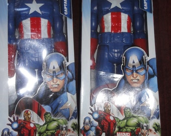 Two Collectible Captain American Dolls/ MIP