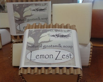 Lemon Zest fragranced Natural Goatsmilk Soap