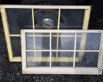 Vintage wooden windows