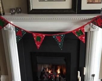 Personalised christmas bunting.
