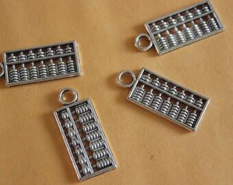 5pcs/10pcs/50pcs Abacus charms tibetan silver tone 10*24mm