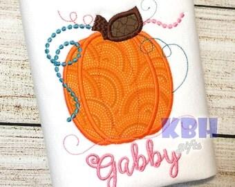 Embroidered Thanksgiving Pumpkin Shirt
