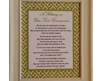 A Blessing on Your First Communion-Cottage Chic Collection
