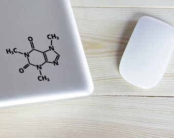 Caffeine Molecule Decal Sticker