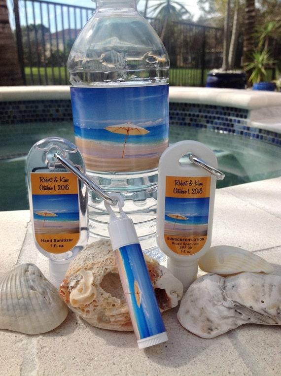 Destination Wedding Sunscreen 1oz 30 SPF Hand Sanitizer 15
