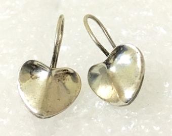 lovely small heart 925 silver  earrings
