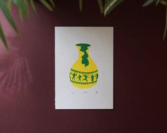 Vase, Screenprint A5