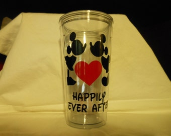 Valentines Day Tumbler - Mickey and Minnie