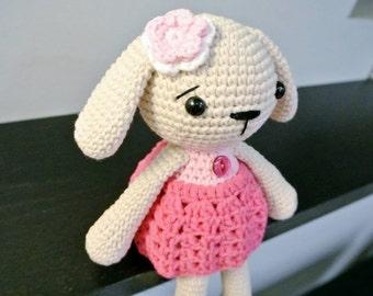 Crochet Bunny Amigurumi - Handmade Crochet Amigurumi Toy Doll - Rabbit - Bunny Crochet - Amigurumi Bunny