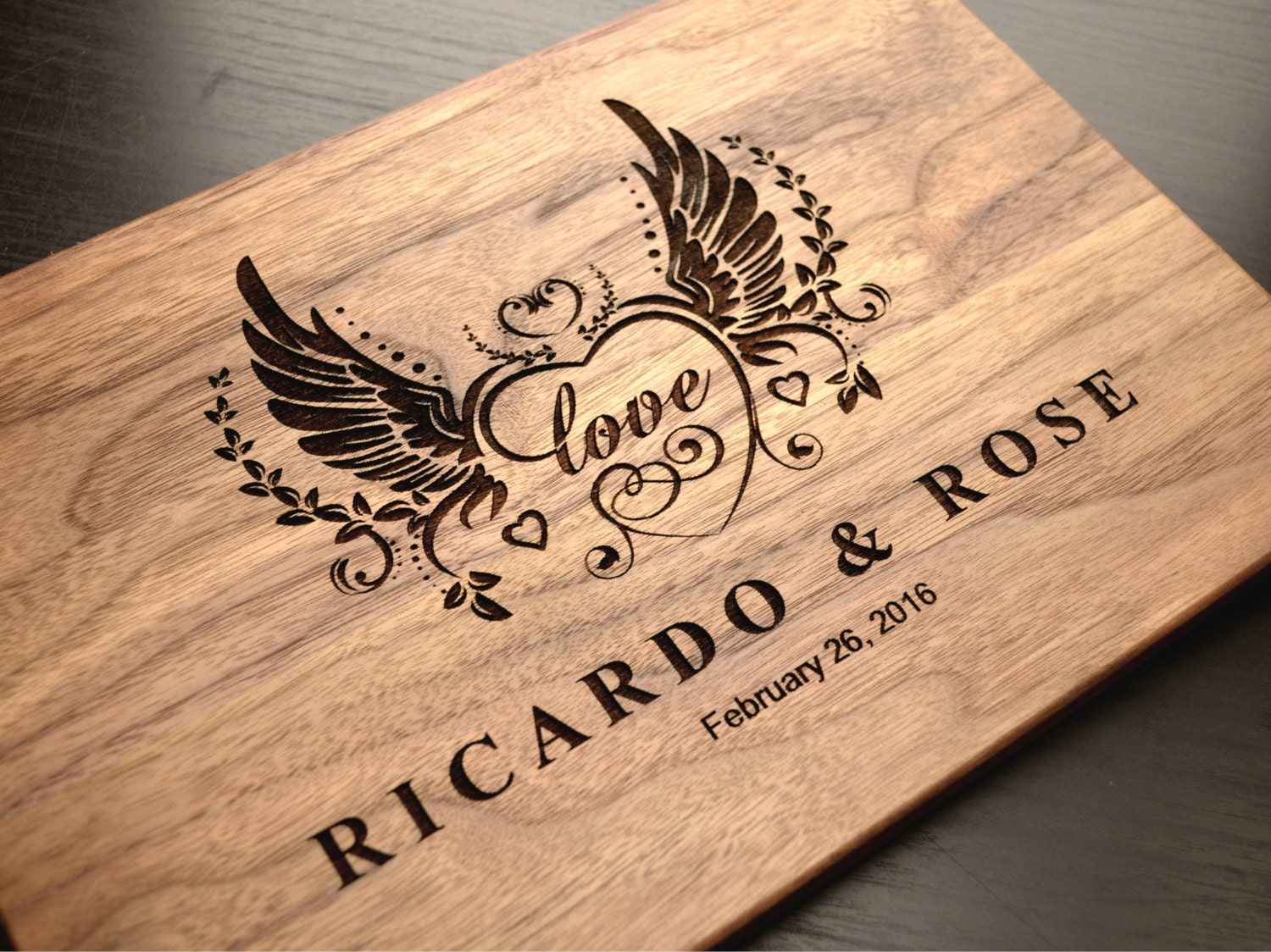 Personalized cutting board engraved wooden chopping block - Engraved wooden chopping boards ...