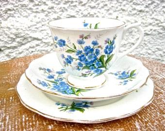 Vintage 1950's Royal Albert Teacup, Saucer & Cake Plate x 3