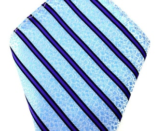 Mens Pocket Square. Blue striped  Handkerchief.Formal Suit .Pocket squares. Hanky. Tuxedo Tie Necktie Pocket Square.