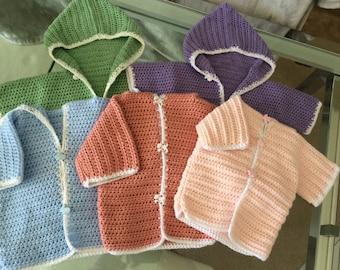 Baby Crochet Hoodies - 3 to 12 months
