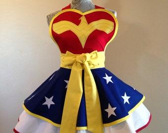 Wonder Woman - Wonder Woman apron - Costume apron - aprons - Wonder Woman costume