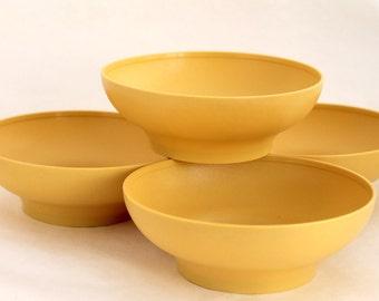 Tupperware Bowls, Harvest Gold, Soup, Salad, Cereal Bowls, Toddler Safe Vintage Kitchenware