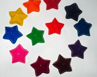 Star Crayons! Kids crafts, party favors. Sets of 12