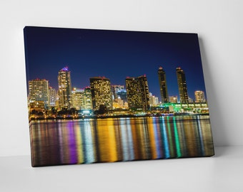San Diego Downtown Skyline Gallery Wrapped Canvas Print