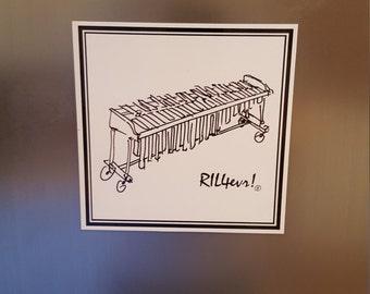 5x5 Magnet - Marimba