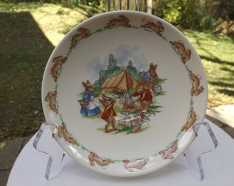 Royal Doulton Bunnykins saucer - camping