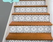 Wall tile vinyl decals for kitchen bath stair by snazzydecal - Stickers contremarche escalier ...