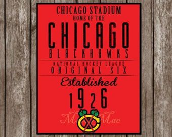 Chicago blackhawks | Etsy