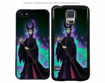Disney Sleeping Beauty Maleficent Purple Fire Phone Case For Samsung Galaxy S8, S8 Plus, S7, S7 Edge, S6, Note 8, S5, LG G6, Google Pixel