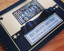 PERSONALISED GUEST BOOK, Great Gatsby Themed Weddings, Engagements, Birthdays, Baby Showers, Hens