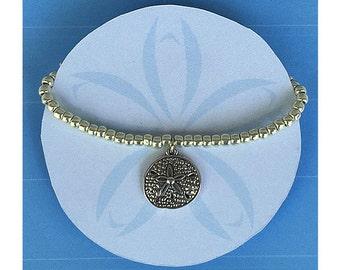 Sand Dollar Doves Charm Bracelet on 3d Sand Dollar Card