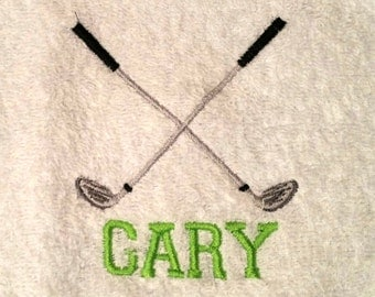 GOLF CLUBS Personalized Sports Towel