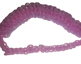 Rainbow Loom Glitter Pink and Purple Headband- Handmade- Multiple Colors Available- Perfect for Girls