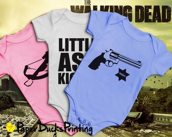 The Walking Dead Baby Grow Triple Pack - Rick Grimes | Daryl Dixon