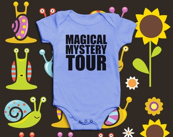 Magical Mystery Tour | Short sleeved baby Vest / Grow / Bodysuit | Inspired by The Beatles