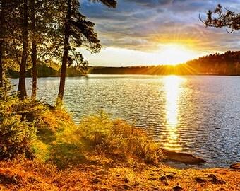Sunset over lake - SKU 0217