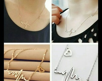 60% OFF GOLD Heartbeat Necklace