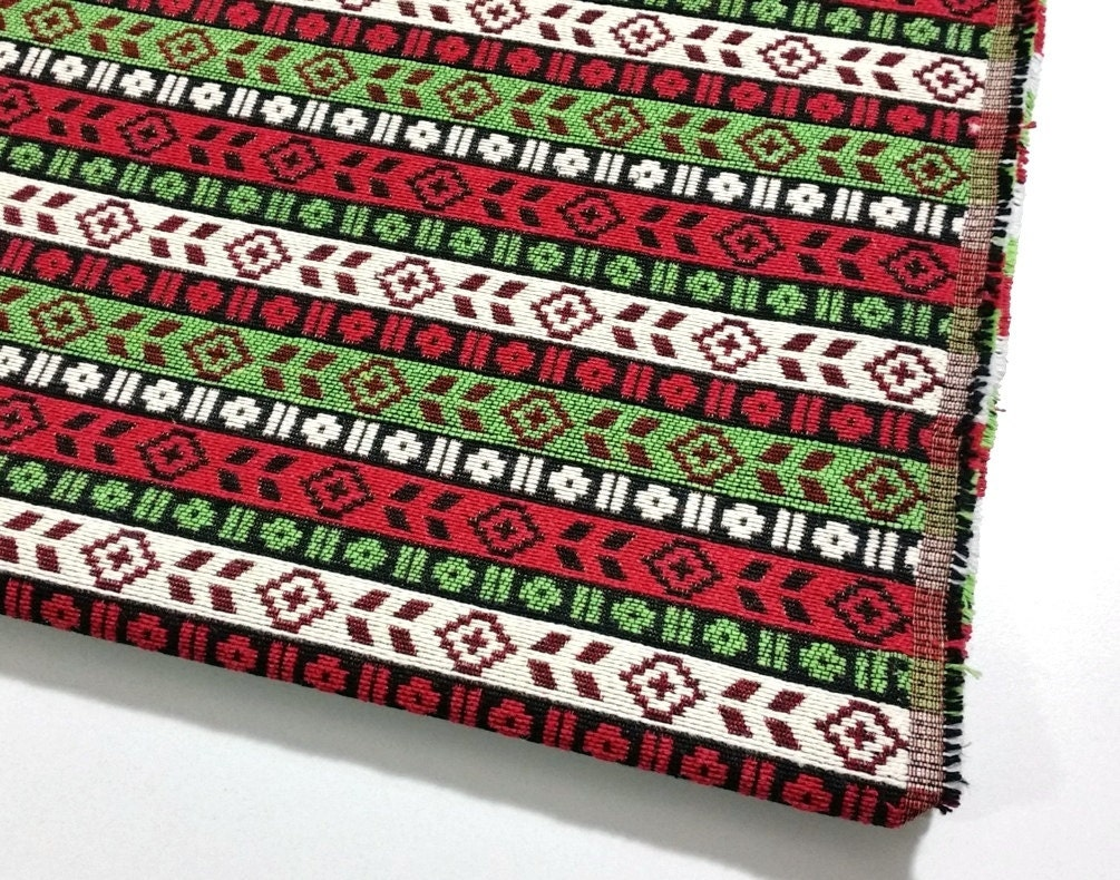 Ethnic upholstery fabric kilim fabric aztec striped home for Home decorating fabric by the yard
