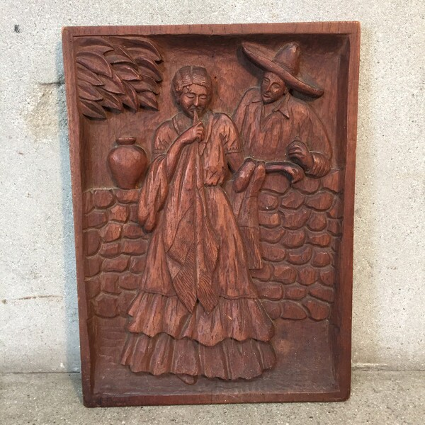 Mexican bas relief carving by j rosas l eq
