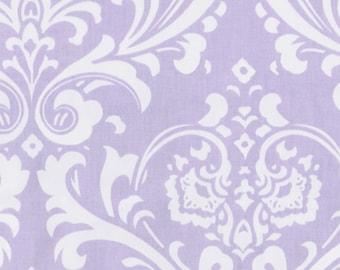 Premier Prints *Lavender Damask* brushed cotton twill fabric Remnant
