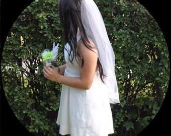 Ribbons and Lace, two-tier Wedding  Veil