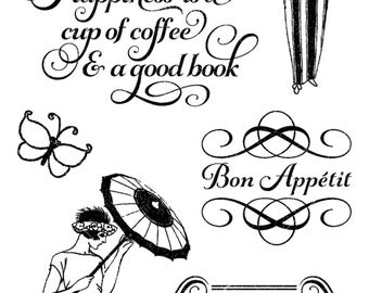 Graphic 45 Cafe Parisian Stamps 3, SC007658