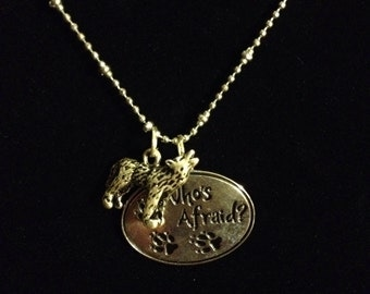 Big bad wolf necklace