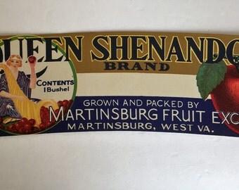 Vintage Apple Label Martinsburg WV